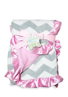 Nursery Rhyme Plush Chevron Blanket