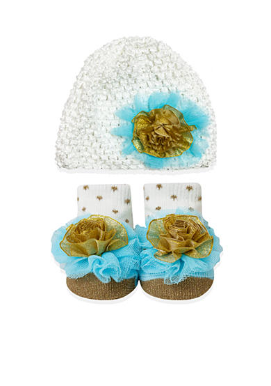 Nursery Rhyme® 2-Piece Knit Hat and Sock Set