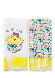 Nursery Rhyme® 2-Pack Chick-and-Floral Burp Cloths Set