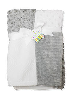 Nursery Rhyme® Gray Patchwork Blanket