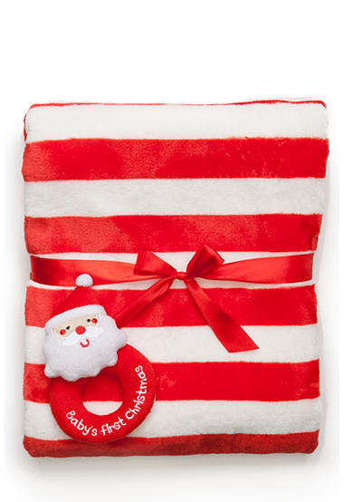 Nursery Rhyme® Striped Santa Blanket