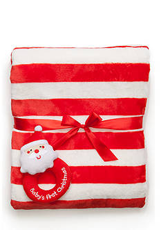 Nursery Rhyme Striped Santa Blanket