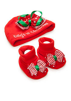 Nursery Rhyme Baby's First Christmas Hat with Socks