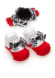 Nursery Rhyme Black and White Headband with Socks
