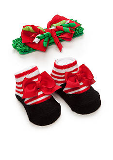 Nursery Rhyme Infant Holiday Headband and Sock Set