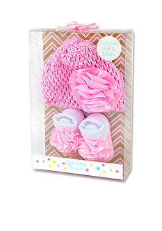 Nursery Rhyme 2-Piece Knit Hat and Sock Boxed Set