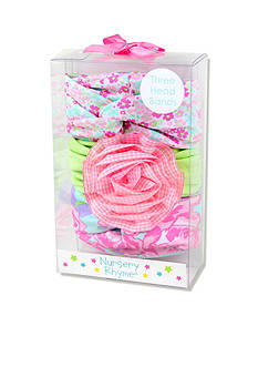 Nursery Rhyme 3-Piece Floral Multi-Print Headband Set