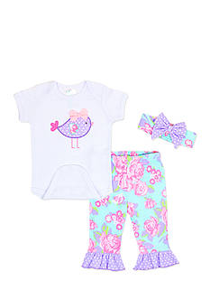 Nursery Rhyme Bird 3-Piece Layette Boxed Set