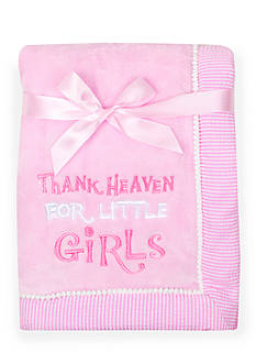 Nursery Rhyme Thank Heaven For Little Girls Blanket