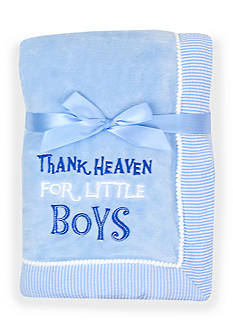 Nursery Rhyme Thank Heaven For Little Boys Blanket