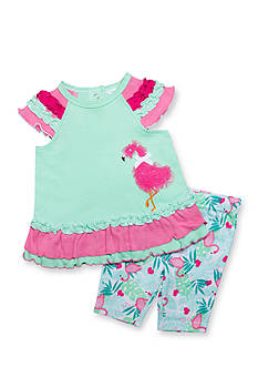 Nursery Rhyme® 2-Piece Flamingo Novelty Leggings Set
