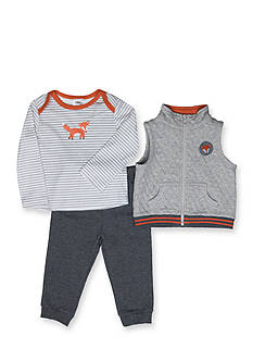Nursery Rhyme® Gray Fox 3-Piece Set Infant/Baby Boys