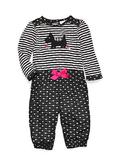 Nursery Rhyme® Infant Girls Heart and Scottie Dog Jumpsuit