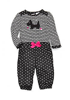 Nursery Rhyme Infant Girls Heart and Scottie Dog Jumpsuit