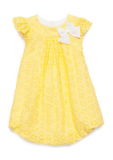 Nursery Rhyme Eyelet Bubble Dress