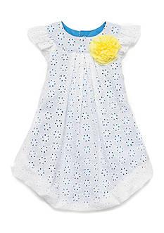 Nursery Rhyme Eyelet Bubble Dress