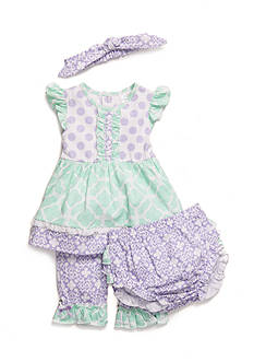 Nursery Rhyme® 4-Piece Printed Pant Set