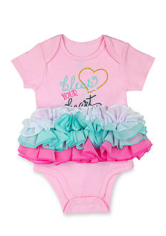 Nursery Rhyme® 'Bless Your Heart' Ruffle One-piece