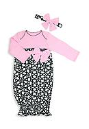 Nursery Rhyme® 2-Piece Floral Print Gown and