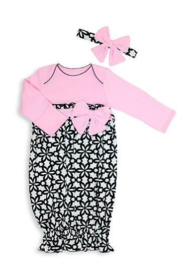 Nursery Rhyme® 2-Piece Floral Print Gown and Headband Set