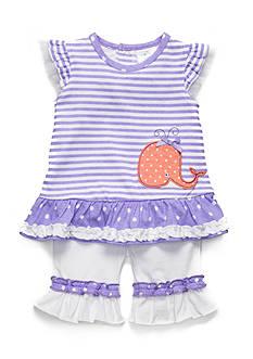 Nursery Rhyme 2-Piece Whale Pant Set