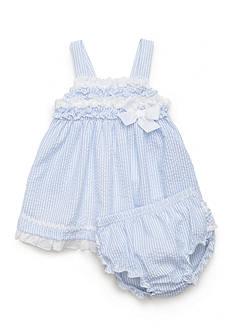 Nursery Rhyme 2-Piece Seersucker Dress Set