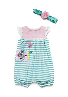 Nursery Rhyme® 2-Piece Romper and Headband Set