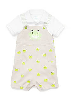 Nursery Rhyme® 2-Piece Frog Bodysuit and Shortall Set