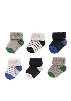 Carter's 6-Pack Stripe Terry Folded Socks