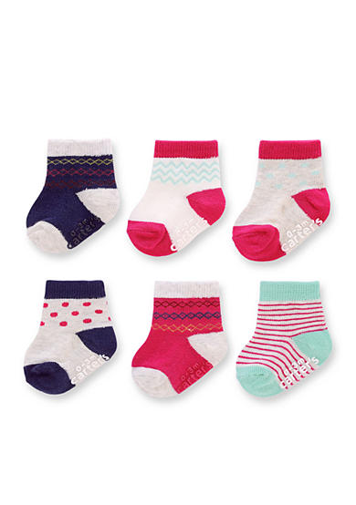 Carter's® Baby Socks - 6 Pack Girls 0-3m