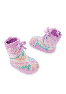 Carter's Baby Girl Knit-In Slipper Sock Crib Shoes
