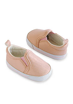 Carter's® Baby Girl Pink Metallic Slip-On Sneaker Crib Shoes