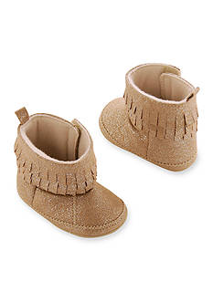 Carter's® Baby Girl Glitter Fringe Moccasin Boot Crib Shoe