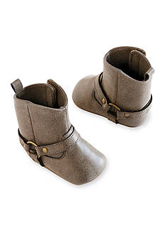 Carter's® Baby Girl Brown Buckle Boot Crib Shoes