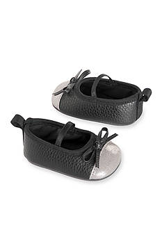 Carter's Baby Girl Black Metallic Toe Mary Jane Crib Shoes
