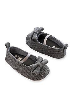Carter's® Baby Girl Cable Knit Gray Mary Jane Crib Shoes