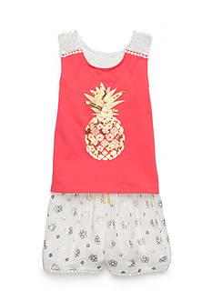 Flapdoodles Pineapple Short Set Toddler Girls