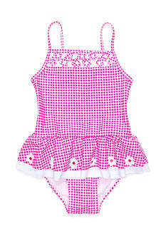 Flapdoodles 2-Piece Daisy Gingham Tankini Set Toddler Girls