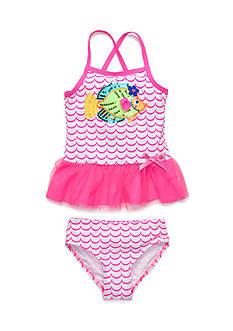Flapdoodles Fish Fun 2-Piece Swimsuit Toddler Girls
