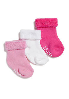 Nursery Rhyme® 3-Pack Turn-Cuff Gripper Socks