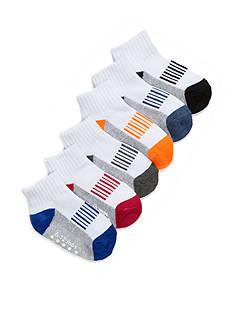 Nursery Rhyme Boy Athletic Sock with Grippers 6 Pair Pack