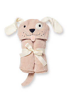 Elegant Baby Tan Puppy Baby Bath Wrap