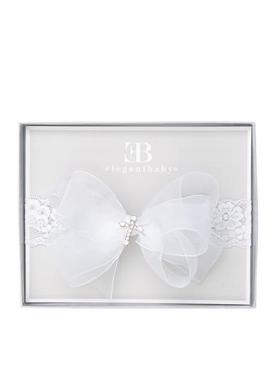 Elegant Baby Christening Cross Headband