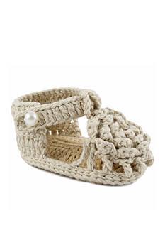 Nursery Rhyme T-Strap Crochet Flat