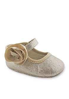 Nursery Rhyme Metallic Side Flower Shoe