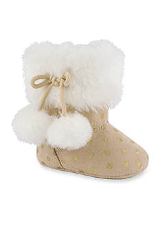 Nursery Rhyme® Fur Top Polka Dot Boot