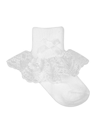 Nursery Rhyme® White Lace Sock Infants