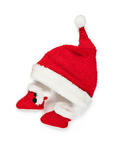 Nursery Rhyme 2-Piece Santa Crochet Hat and Boot Set