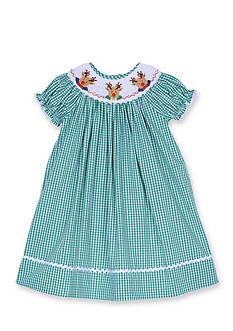 Marmellata Reindeer Smock Dress Toddler Girls