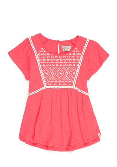 Lucky Brand Geo Embroidered Peasant Top Toddler Girls